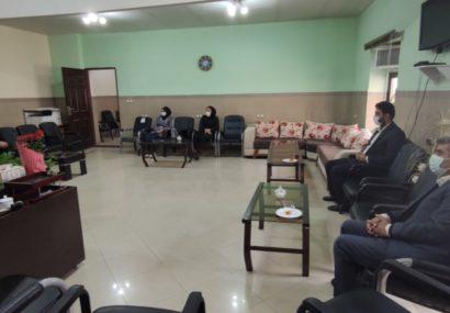 اعضای هیأت ژیمناستیک بوکان با سرپرست اداره ورزش و جوانان شهرستان بوکان دیدار کردند