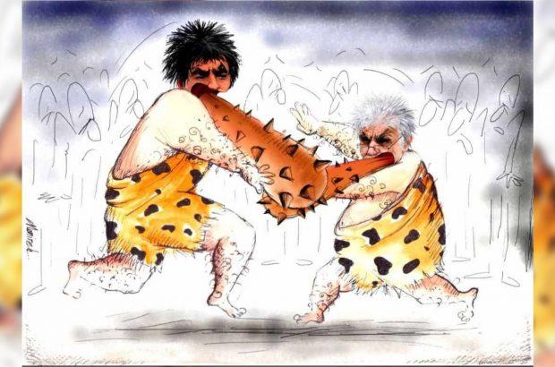واکنش کاریکاتوریست بوکانی به درگیری نماینده بوکان